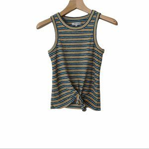 NWT Madewell Audio Knot-Front Striped Tank Top